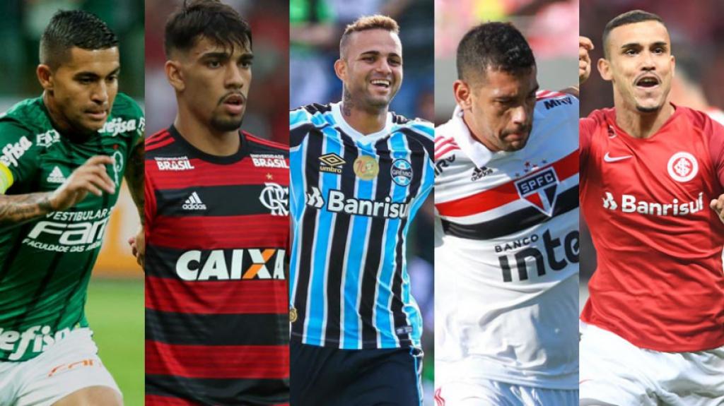 A distância entre o líder São Paulo e o quinto colocado Grêmio na tabela do  Campeonato Brasileiro é de apenas quatro pontos. 7a23595d6b210