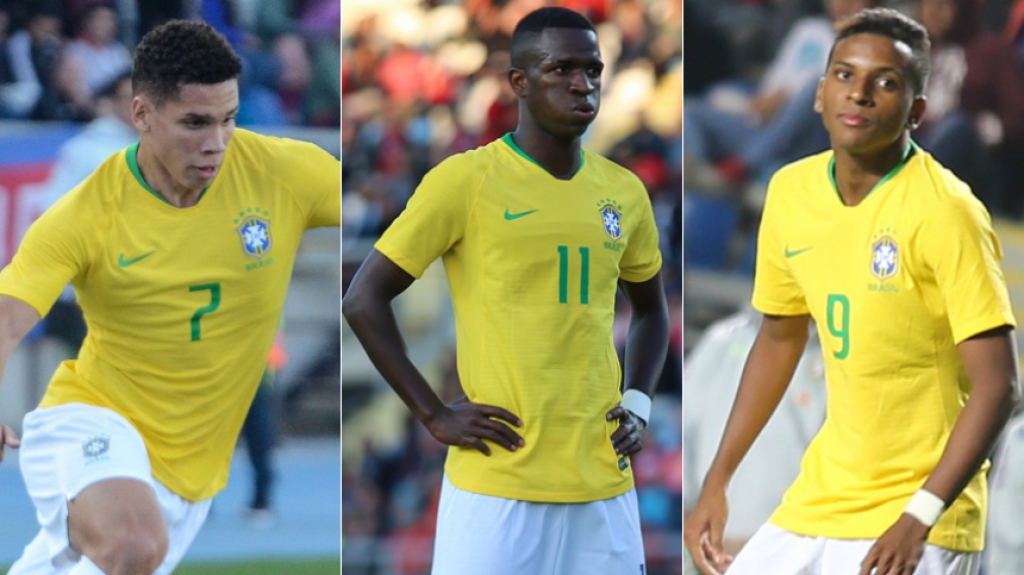Peso de ouro! O preço dos atacantes da Seleção Brasileira Sub-20 ... b802aaab13253