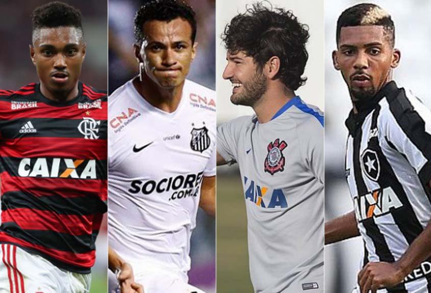 Montagem - Vitinho (Flamengo) / Leandro Damião (Santos) / Pato (Corinthians) / Matheus Fernandes (Botafogo)