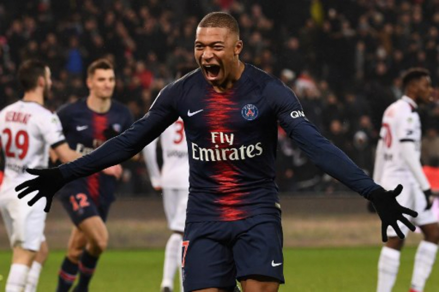 Mbappé - PSG x Guingamp