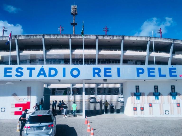Estádio Rei Pelé - CSA  x Santos