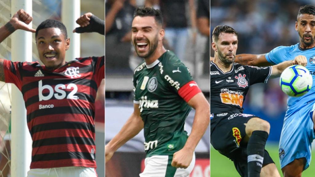 Montagem - Flamengo, Palmeiras e Corinthians