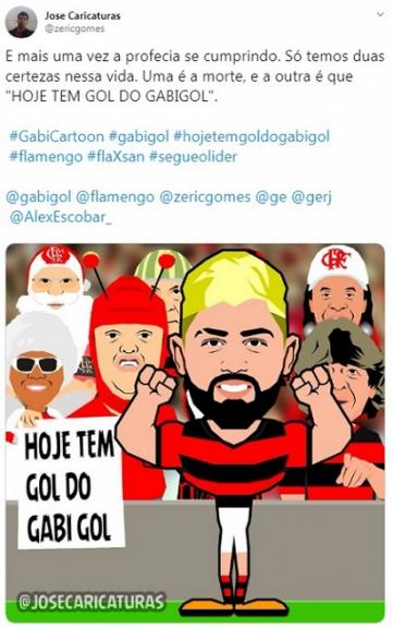 #GabiCartoon: confira as imagens selecionadas pelo próprio Gabigol