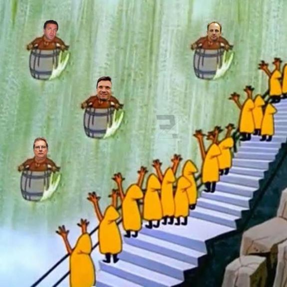 Dança das cadeiras entre treinadores acabou virando piada nas redes sociais