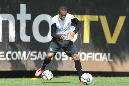 Robinho - Treino do Santos (Foto: Ivan Storti / LANCE!Press)