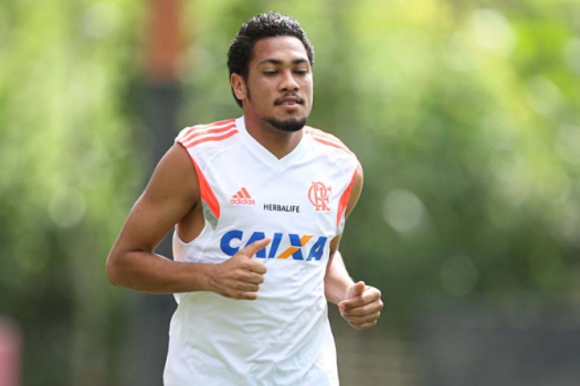 Hernane - Treino do Flamengo (Foto: Cleber Mendes/LANCE!Press)