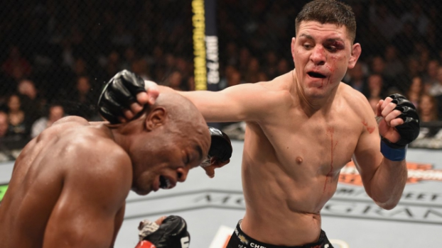 Nick Diaz foi derrotado por Anderson SIlva no UFC 183 (FOTO: Getty Images)
