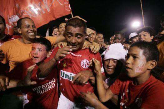 Romário no dia em que atuou pelo América-RJ, time do seu pai Edevair