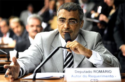 Romário atuando como deputado federal, cargo que exerceu entre 2010 e 2014