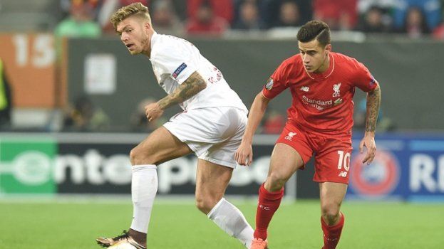 HOME - Augsburg x Liverpool - Liga Europa - Philippe Coutinho (Foto: Christof Stache/AFP)