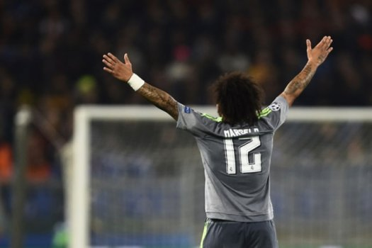 Marcelo - Roma x Real Madrid