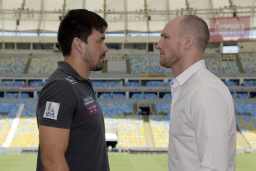 Demian Maia e Ryan LaFlare - Media Day do UFC Fight Night (Foto: Alexandre Loureiro/Inovafoto)
