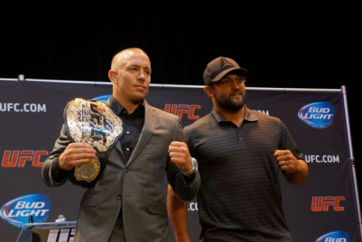 Georges Saint Pierre, Johny Hendricks (FOTO: UFC)