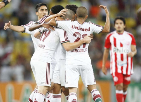 Gol do Wagner - Fluminense x  Nautico (Foto: Cleber Mendes/ LANCE!Press)