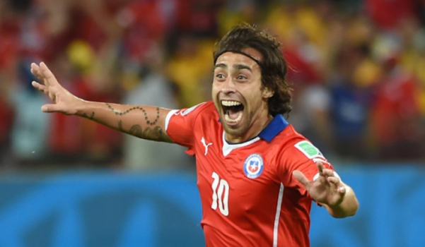 Chile x Austrália - Gol de Valdivia (Foto: William West/AFP)