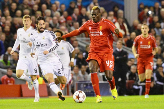 Balotelli - Liverpool x Real Madrid (Foto: Paul Ellis/AFP)