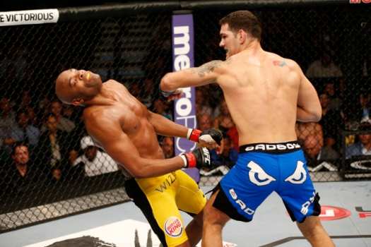 Chris Weidman e Anderson Silva (FOTO: Getty Images)