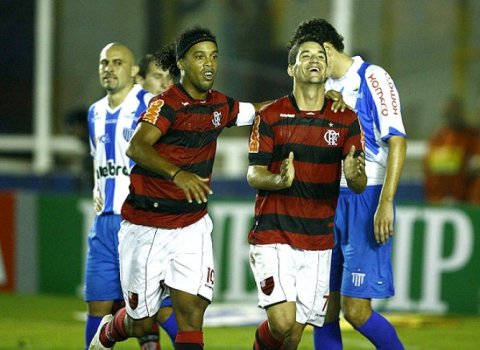 Gol Thiago Neves - Flamengo x Avaí (Foto: Cleber Mendes)