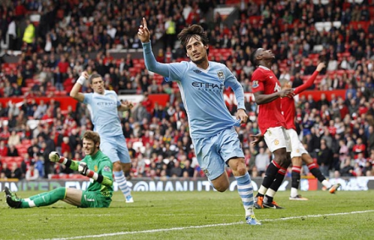 David Silva comemora (Foto: Darren Staples/Reuters)