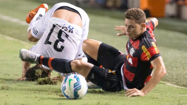 HOME - Santos x Flamengo - Campeonato Brasileiro - Marquinhos Gabriel e Jonas (Foto: Luiz Fernando Menezes/Fotoarena/LANCE!Press)
