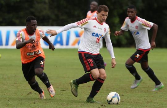 Treino do Flamengo - Jonas e Cafu (Foto: Cleber Mendes/Lancepress!)