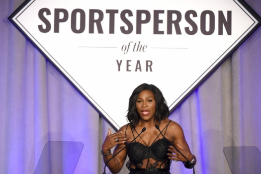 Serena na premiação da Sports Illustrated