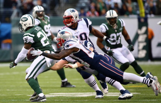New York Jets x New England Patriots (foto:AL BELLO / GETTY IMAGES NORTH AMERICA / AFP)