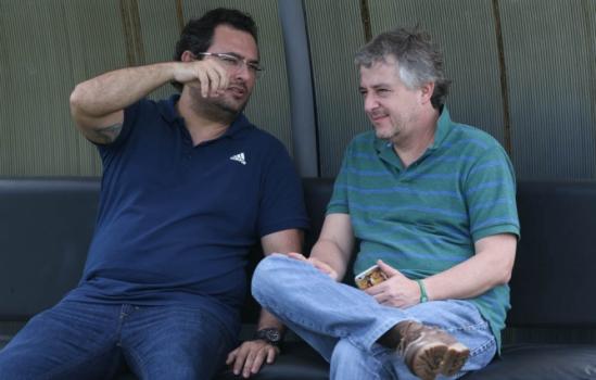 Alexandre Mattos e Paulo Nobre (FOTO: Cesar Greco/Palmeiras)