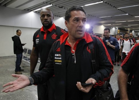 Vanderlei Luxemburgo no desembarque do Flamengo. (Foto: Wagner Meier / Lance!Press)