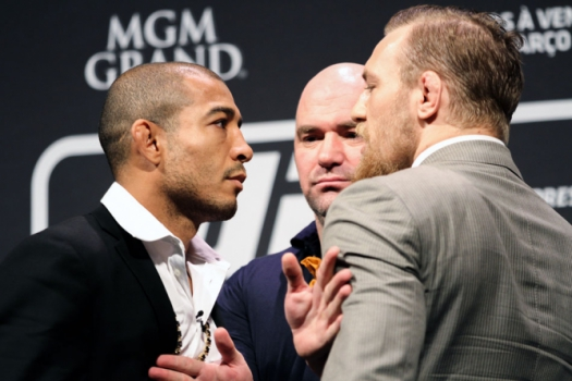José Aldo e Conor McGregor - UFC Fight Night RJ (Foto: Bruno Lorenzo/ LANCE!Press)