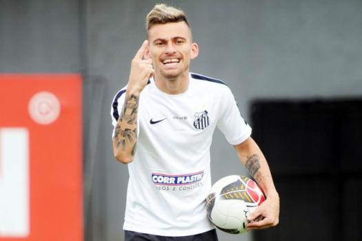 Lucas Lima, do Santos (Foto: Ivan Storti/LANCE!Press)