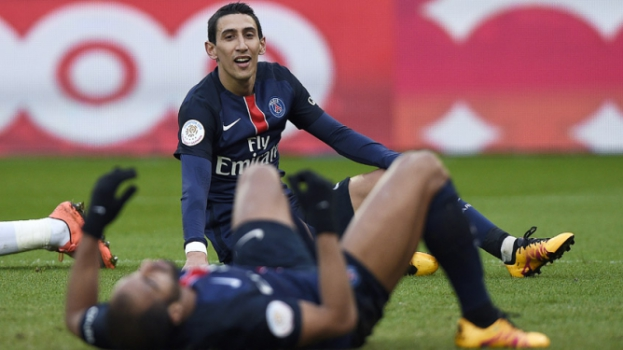 HOME - PSG x Montpellier - Campeonato Francês - Di María (Foto: Franck Fife/AFP)
