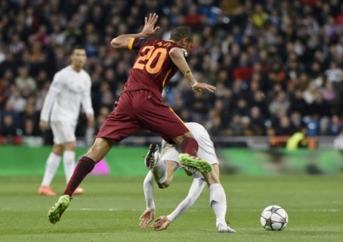 Real Madrid x Roma (foto:JAVIER SORIANO / AFP)
