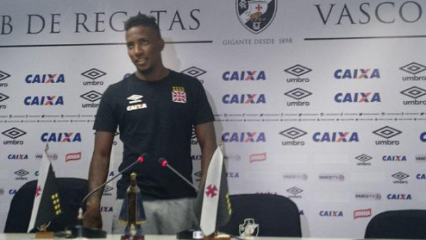 Thalles durante coletiva no Vasco (Foto: David Nascimento/LANCE!Press)