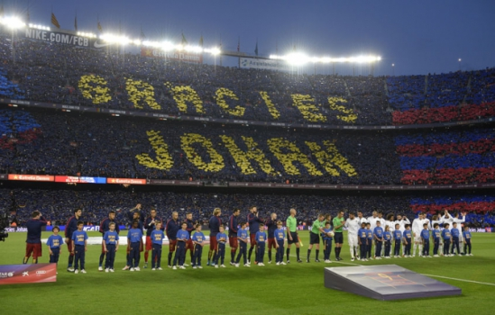 Homenagem a Cruyff - Barcelona x Real Madrid