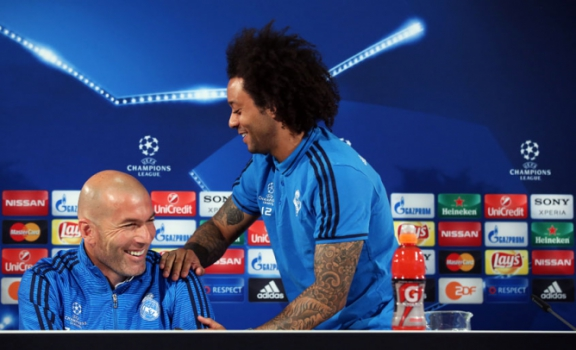Zidane e Marcelo - Real Madrid