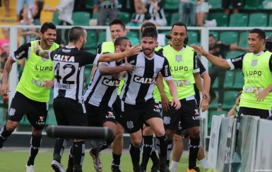 Guilherme Queiroz vibra com primeiro gol com a camisa do Figueirense (Foto: Divulgação/Figueirense FC)