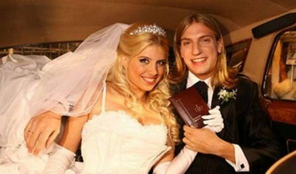 O atacante Maxi López e sua ex-mulher, a modelo Wanda Nara