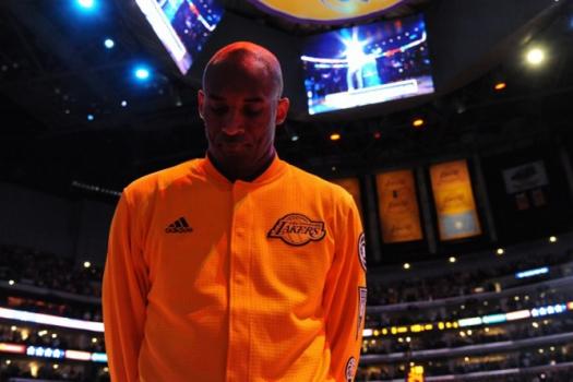 Kobe Bryant se emocionou bastante antes de realizar seu último jogo da carreira