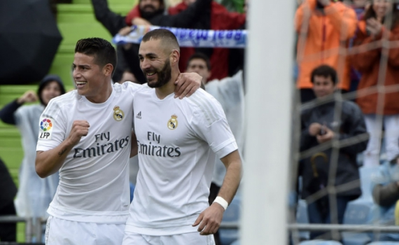 James Rodriguez e Benzema - Real Madrid