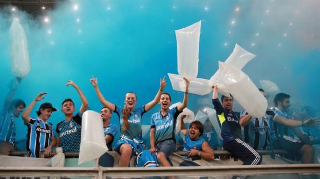 HOME - Grêmio x Toluca - Copa Libertadores - Torcida (Foto: Jefferson Bernardes/AFP)