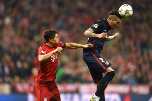 Lewandowski e Gimenez Bayern de Munique x Atletico de Madrid
