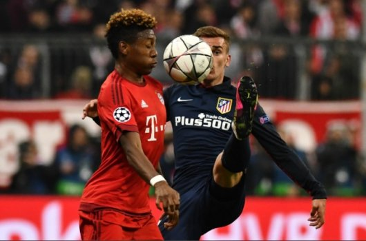 Griezmann e Alaba - Bayern de Munique x Atletico de Madrid