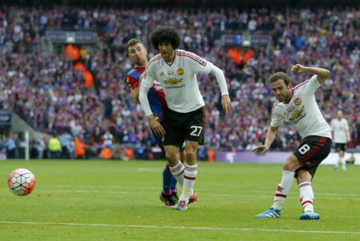 Fellaini e Mata - Crystal Palace x Manchester United