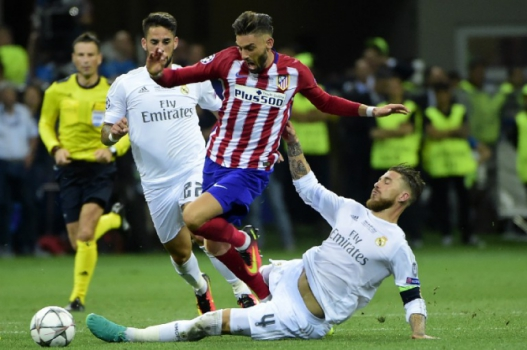 Ferreira Carrasco e Sergio Ramos - Real Madrid x Atlético de Madrid