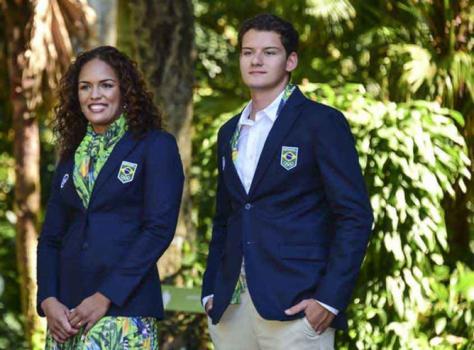 COB e C A apresentam uniformes de desfile do Time Brasil no Rio 2016 256c4225d113f