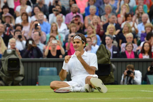 2012 - Roger Federer venceu andy Murray