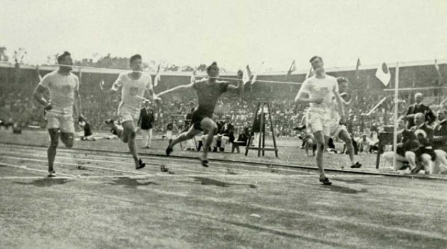 Olímpiadas na Suecia 1912 - Final do Atletismo dos 100m