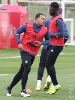 Depay - Treino do Manchester United