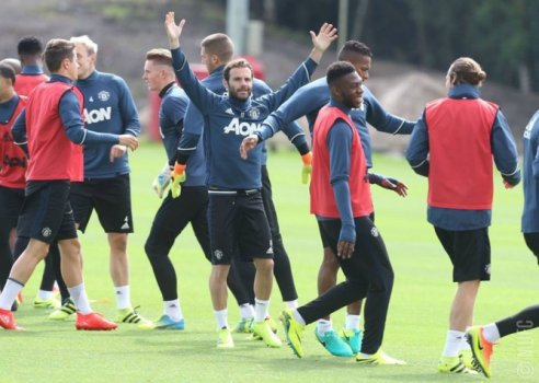 Juan Mata - Treino do Manchester United